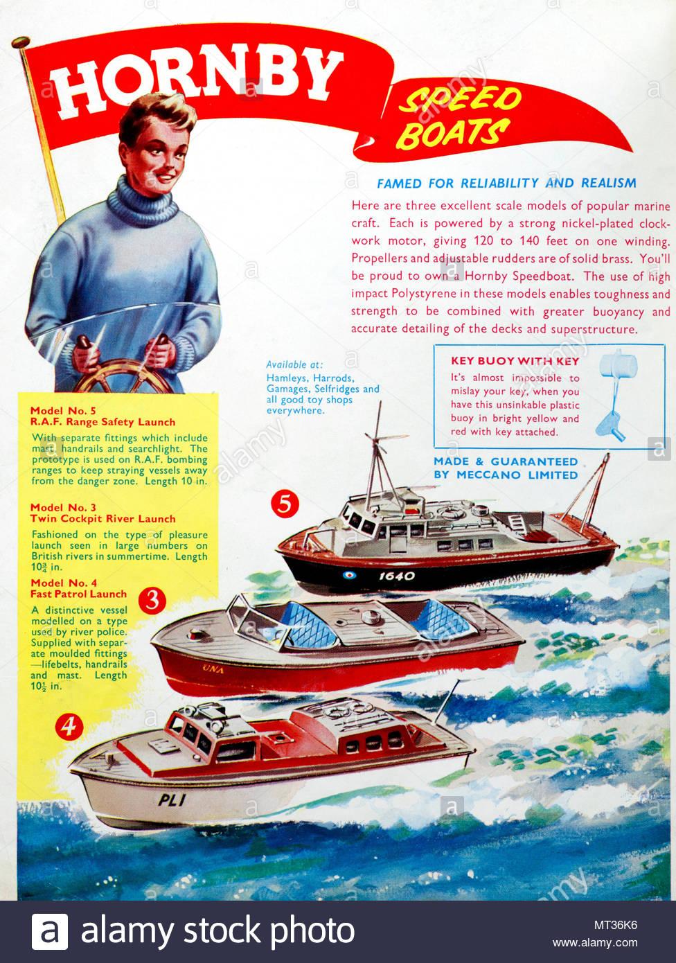 Hornby vintage advertising 1963 - Stock Image