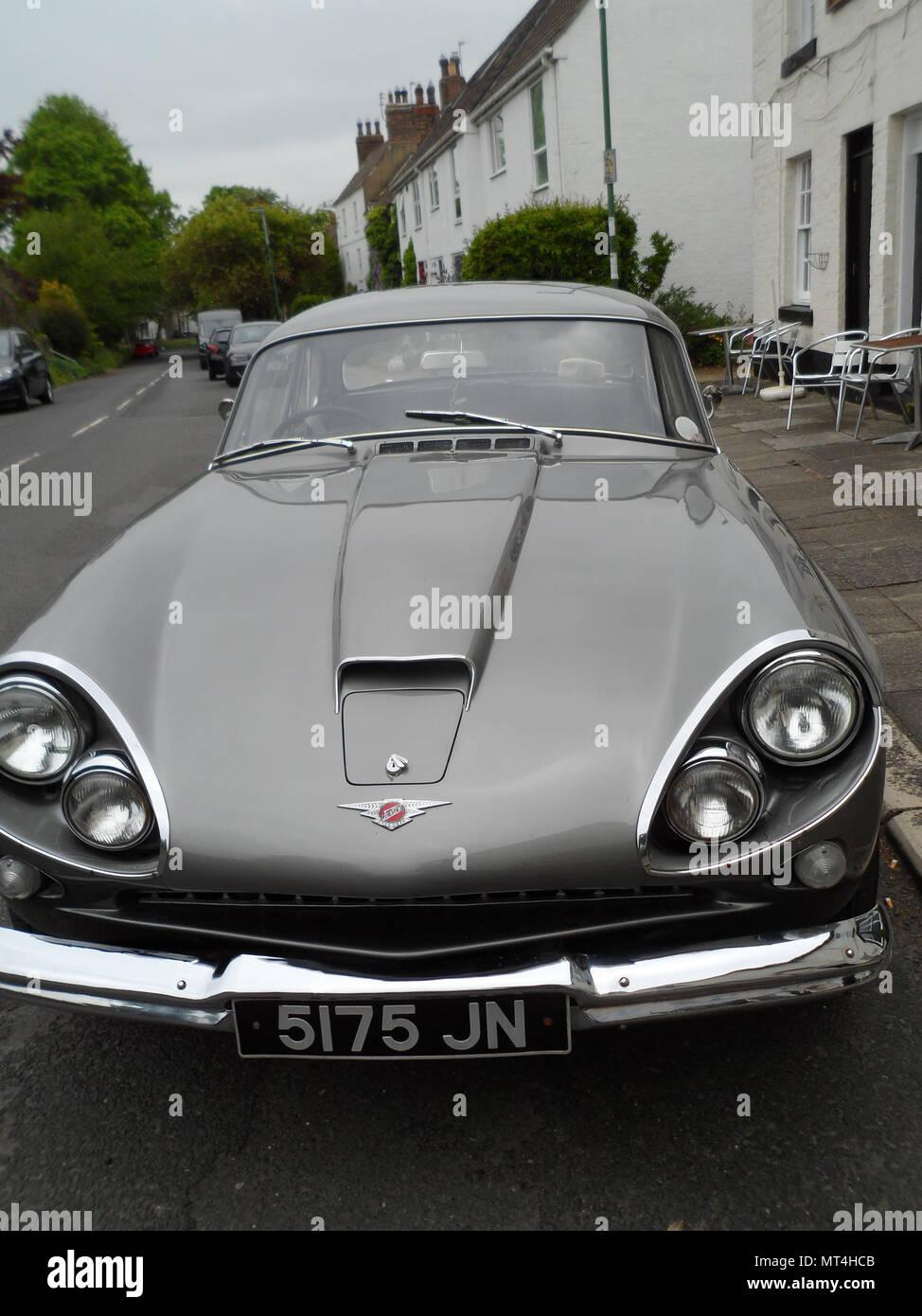British built Jensen CV-8 sports 2 door coupe classic car. - Stock Image