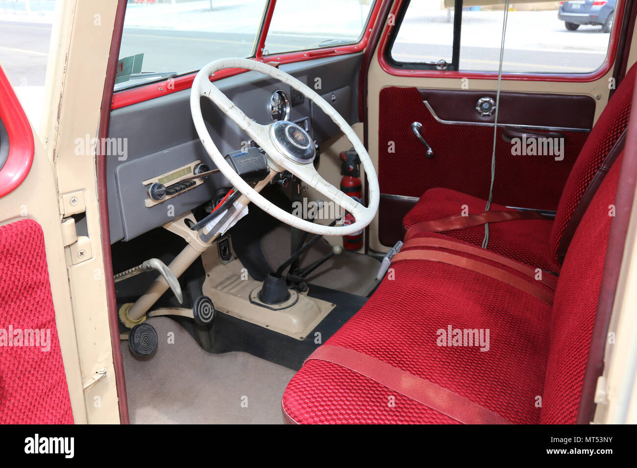 The interior of the Willys Station Wagon was utilitarian in
