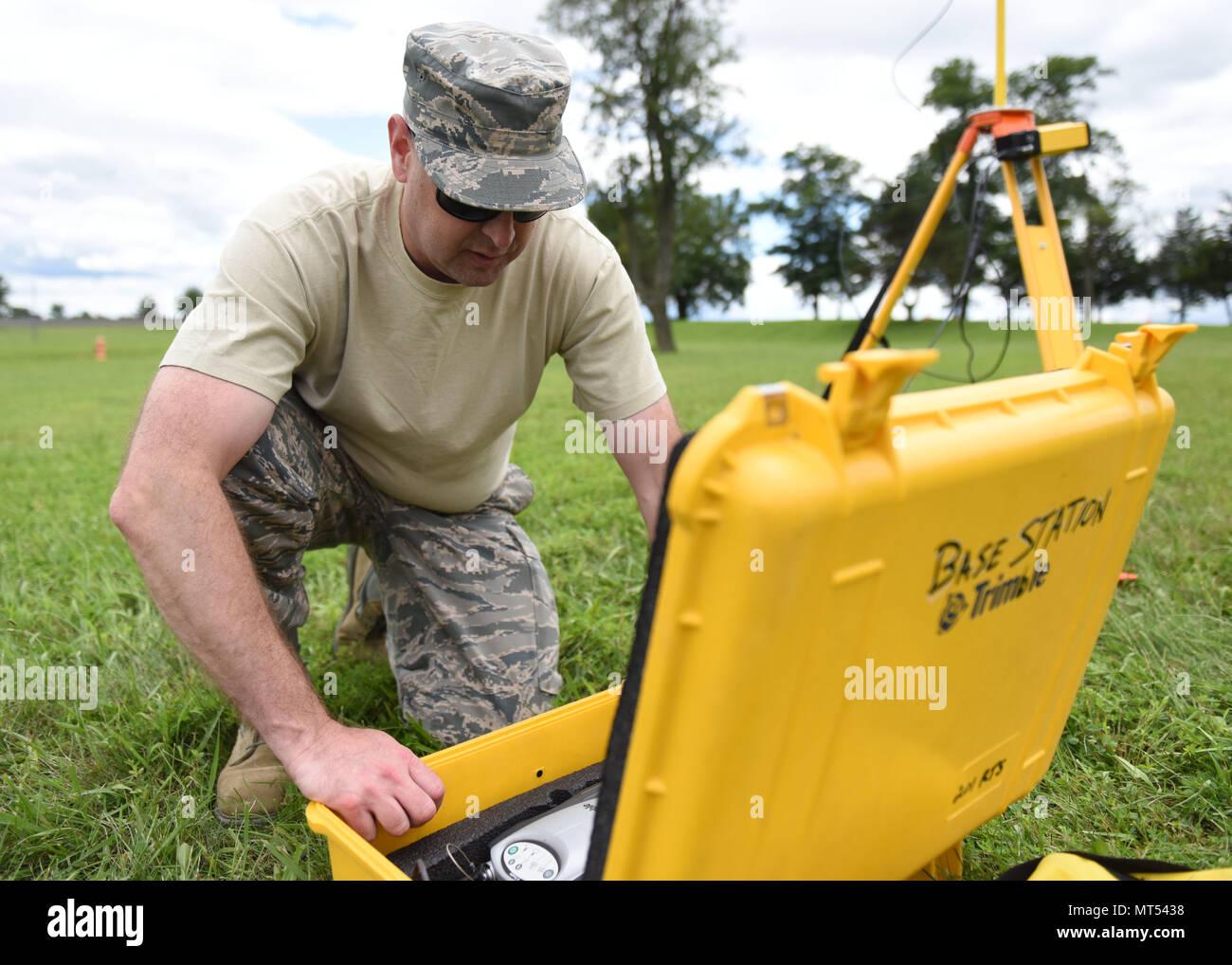 Master Sgt  Steven Sabatino, an engineer flight supervisor, takes