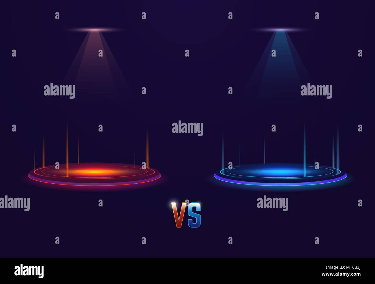 Versus glowing portal - Stock Vector