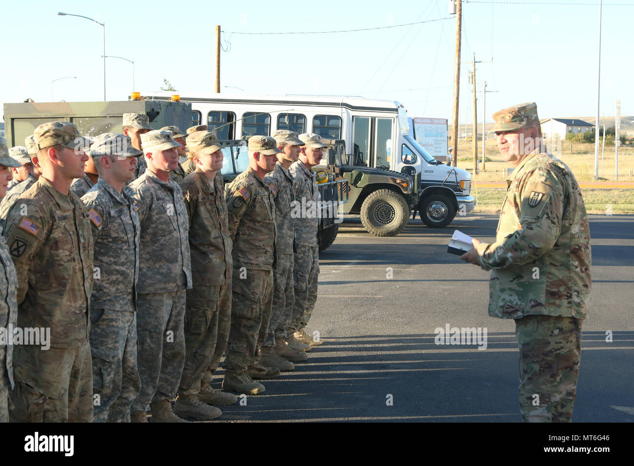 U S Army Reserve Soldiers Assigned To The 317th Engineer Construction Company Line Up For Morning Formation
