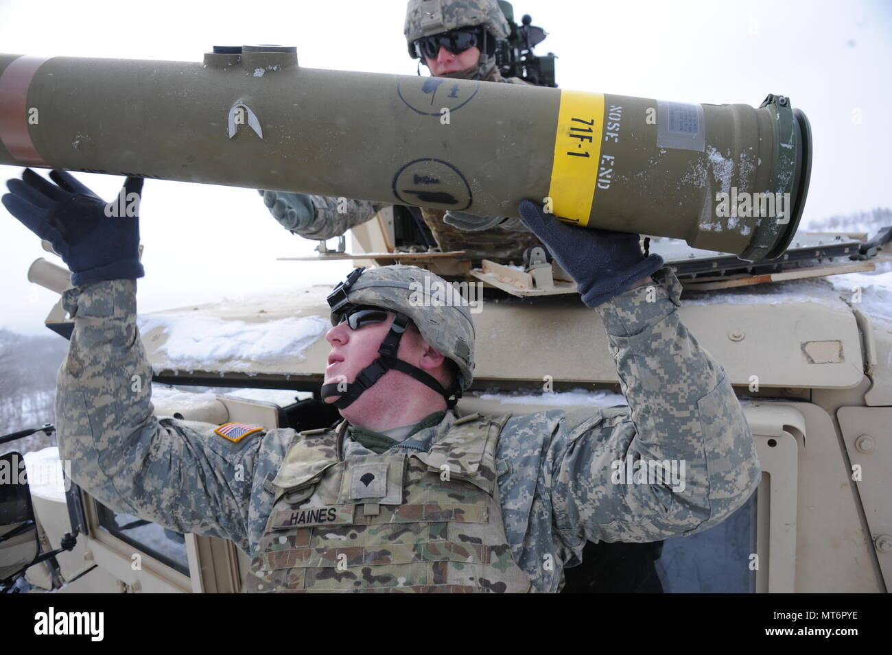 U S Manufactured Stock Photos Images Alamy Raytheon Wiring Harness Us Armyspc Mike Mcguire Loads A Tow Missile At Fort Mccoy Wis