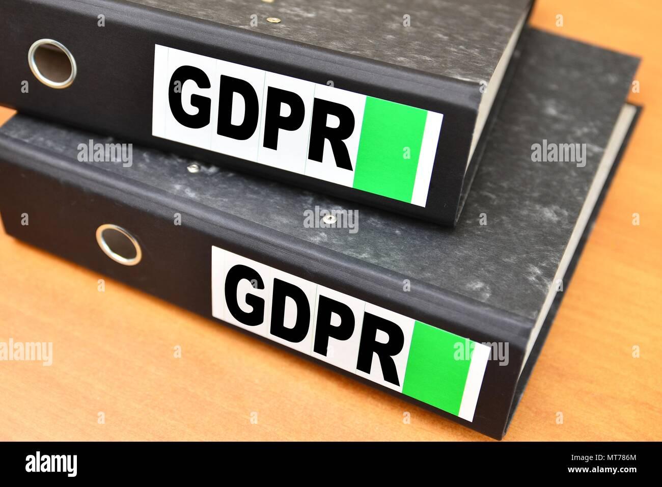 GDPR, General Data Protection Regulation, file, files - Stock Image