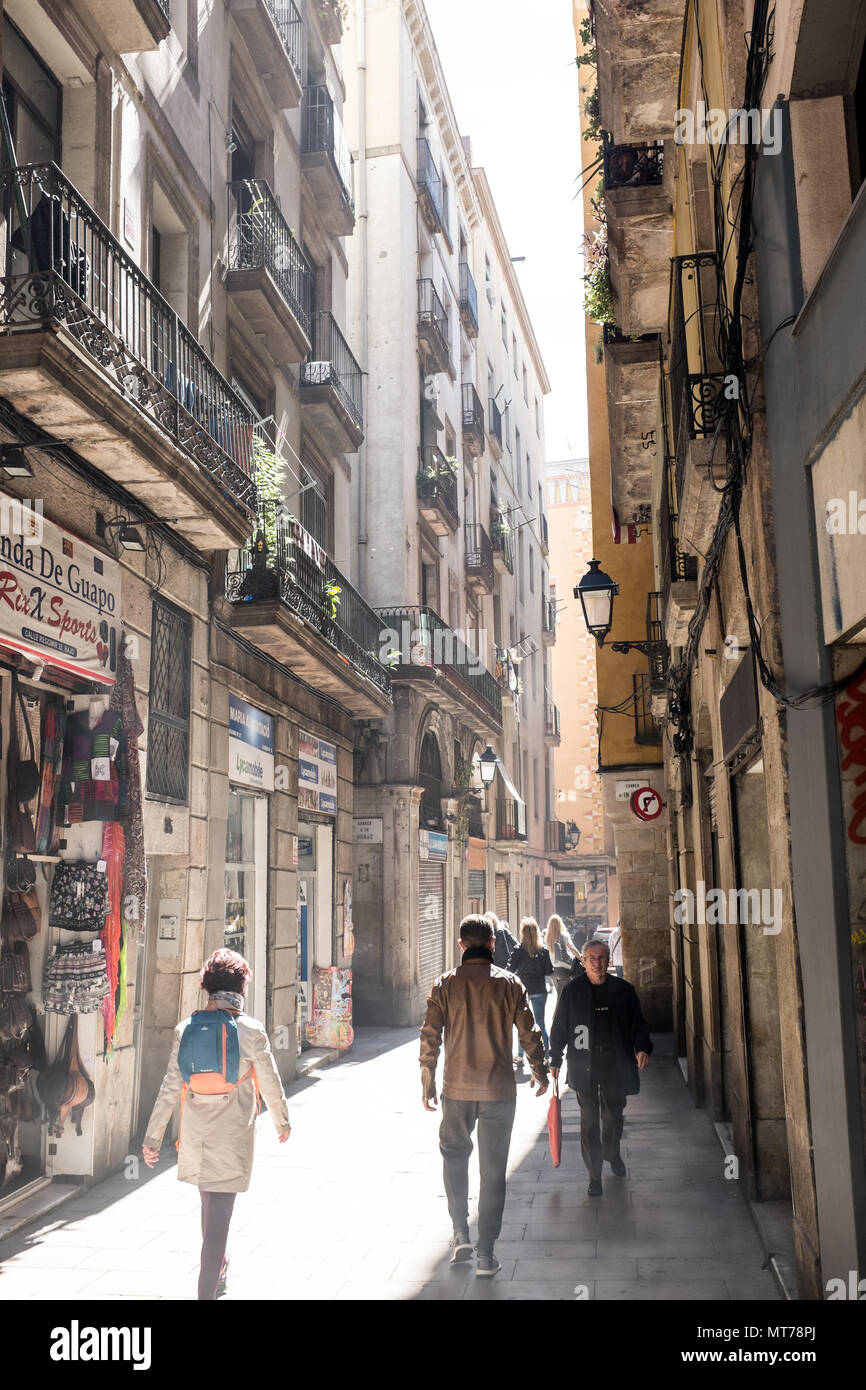 Narrow Streets Seen In All Over Of Barcelona City Centre Barcelona The Capital Of Catalonia And It S One Of The Most Famous Tourist Attraction In Europe The Diversity And Multicultural Combination Of