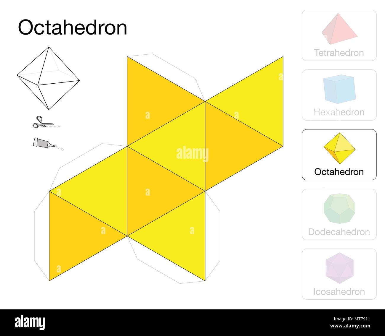 Modular Origami Octahedral Unit Folding Instructions | 1137x1300