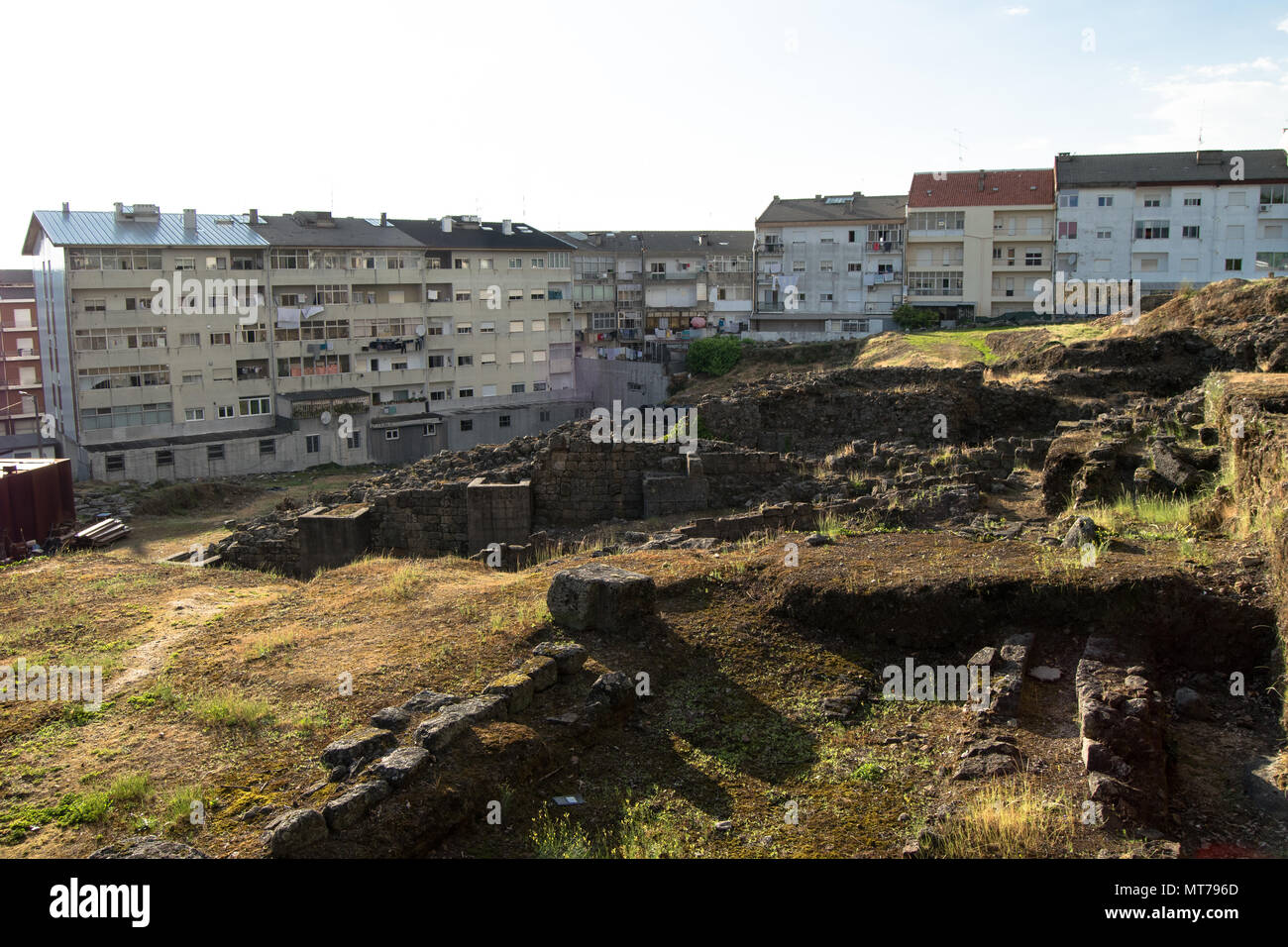 Roman therms in Portugal, city of Braga - Stock Image
