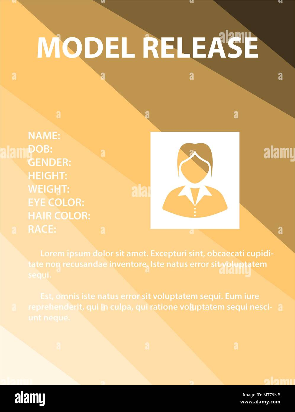 Model Release Form Stock Vector Images Alamy