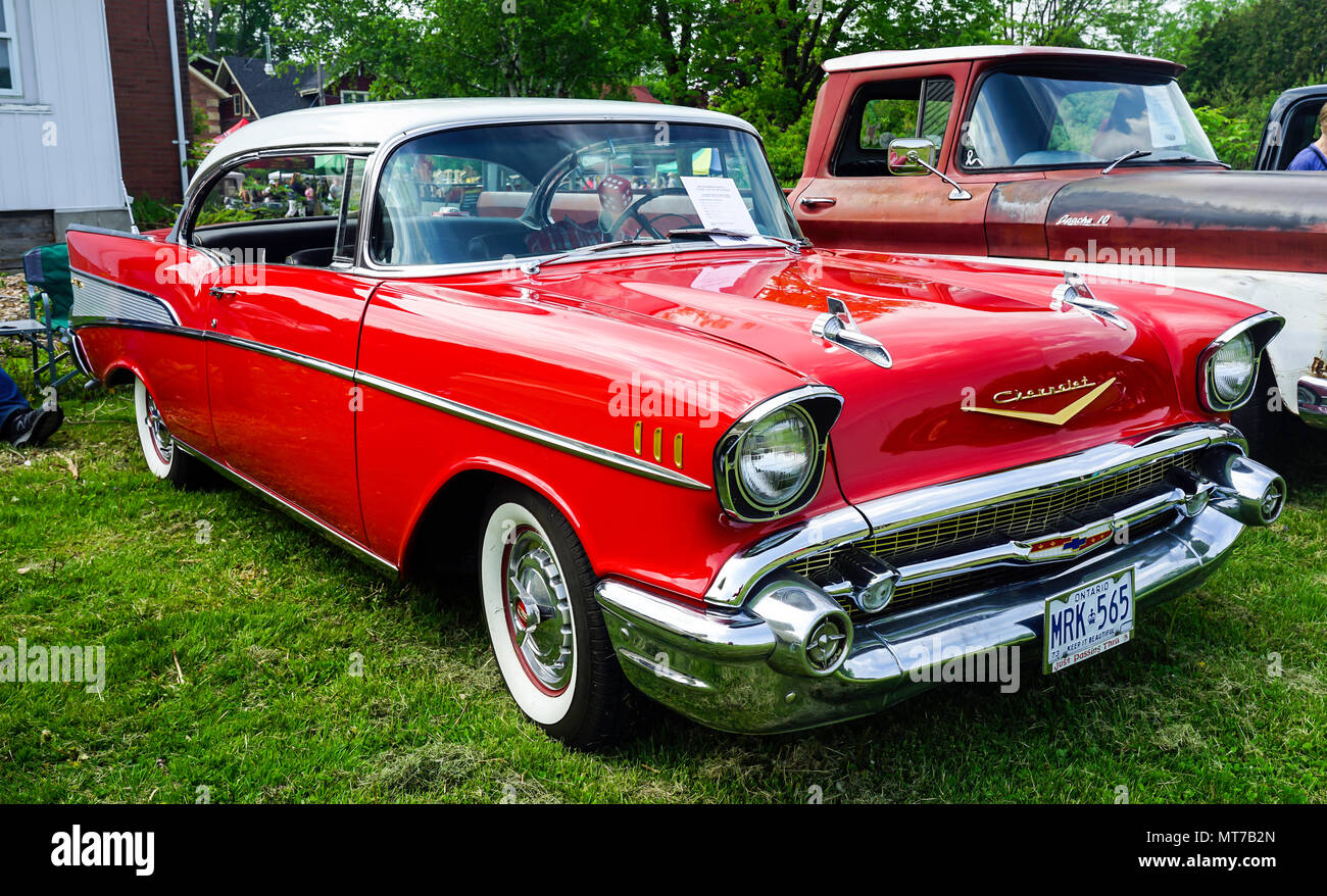 Old Chevy Cars >> 1957 Cheverolet Chevy Old Vintage Cars At Antique Car