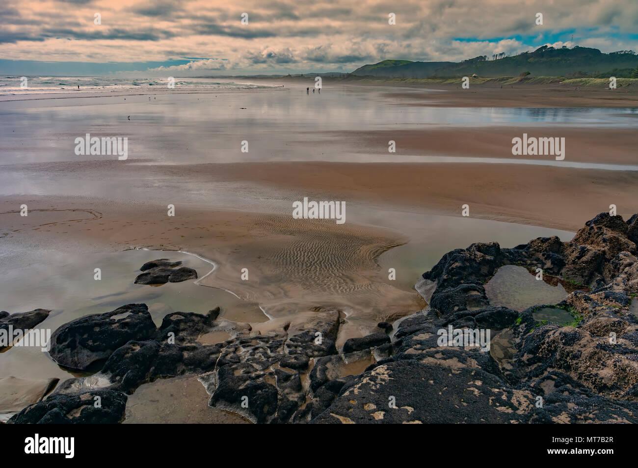 Muriwai Beach, North Island, New Zealand - Stock Image