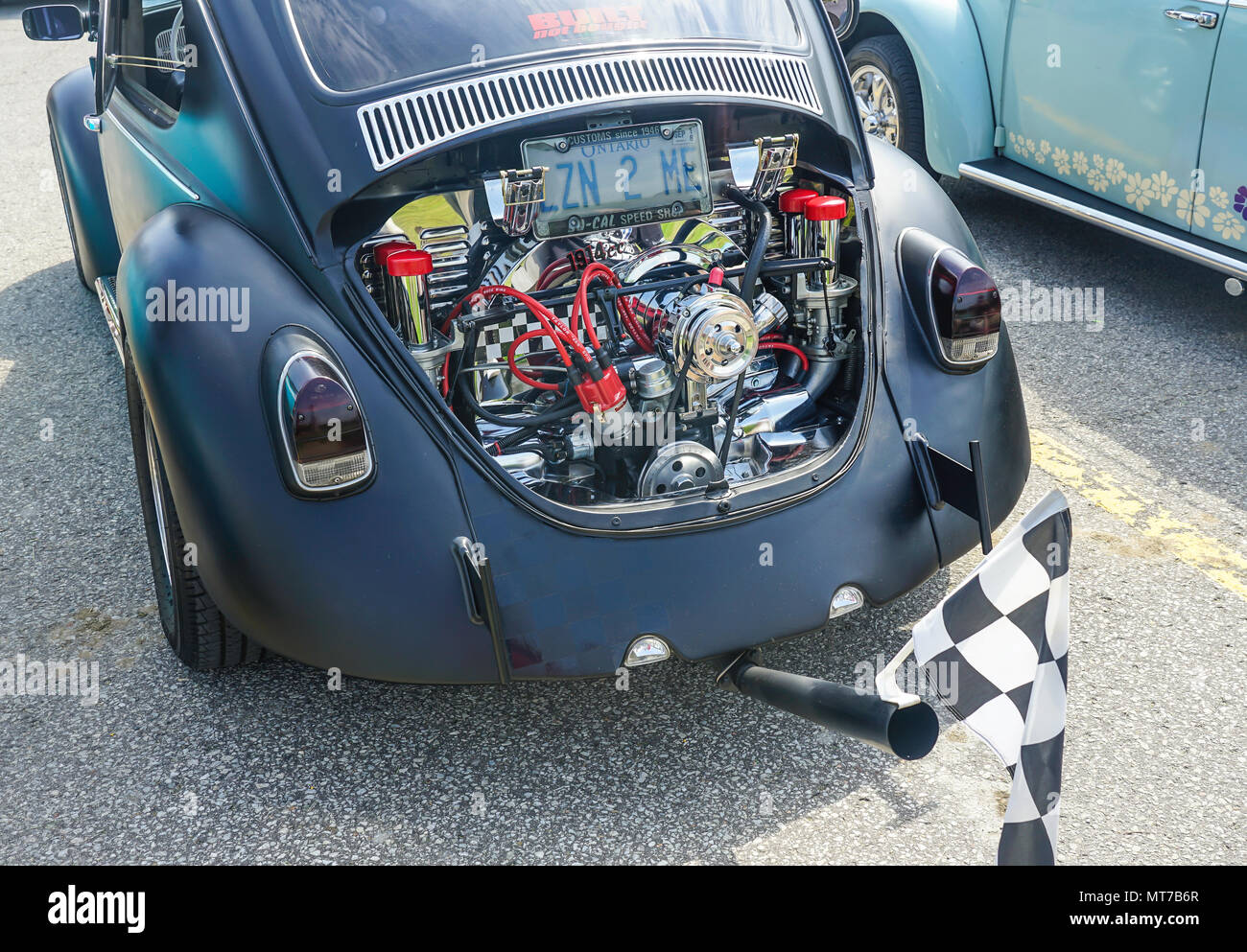 1969 Vw Bug With Racing Engine Old Vintage Cars At Antique Car Exhibition In Ontario Canada Stock Photo Alamy
