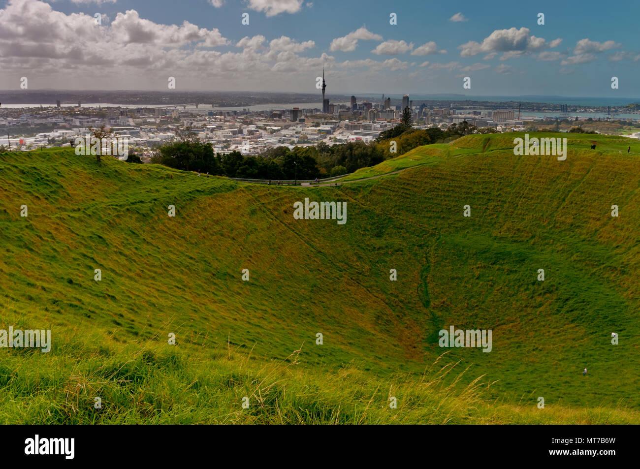 Mount Eden, Auckland, North Island, New Zealand - Stock Image