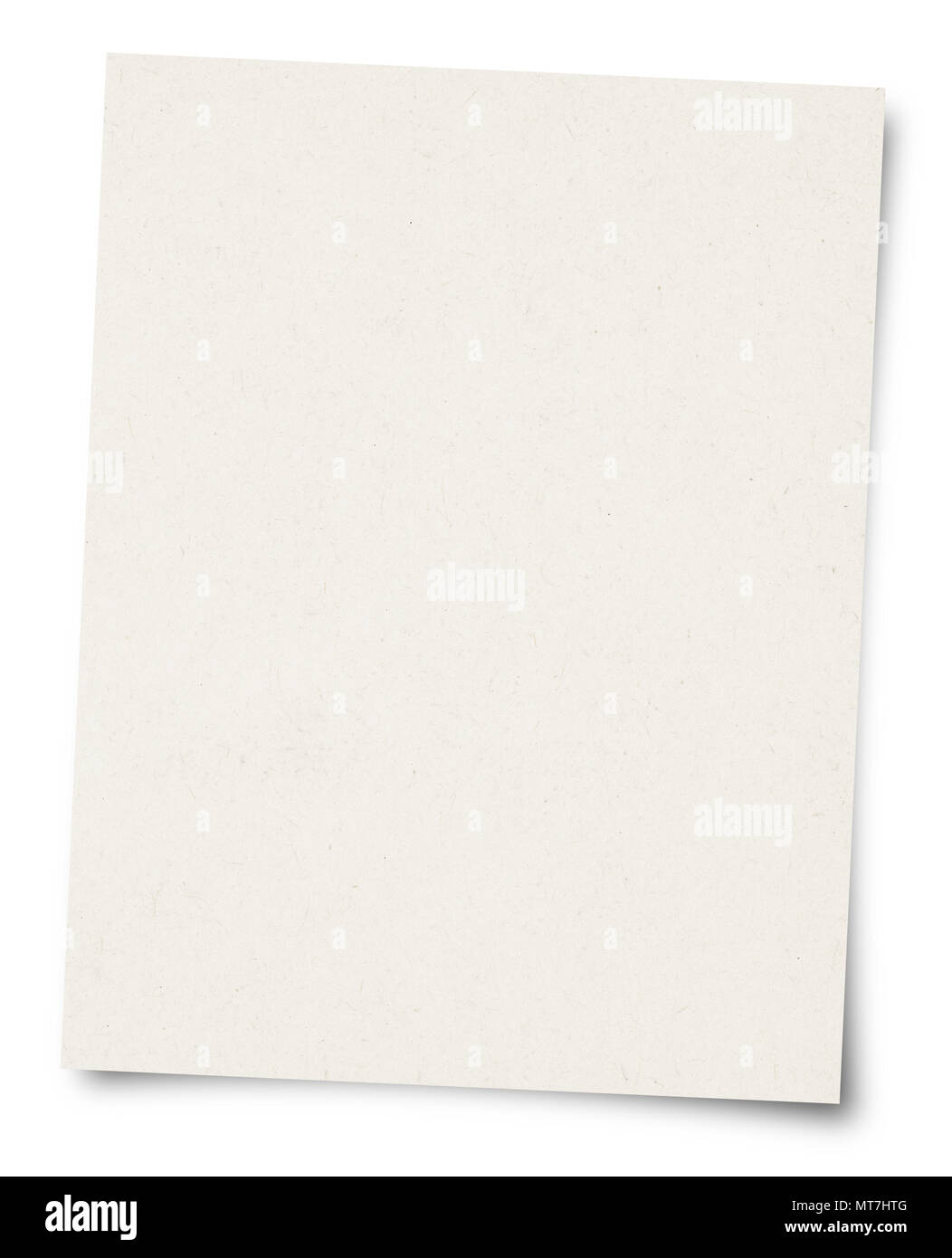 White Paper sheet isolated on white background - Stock Image