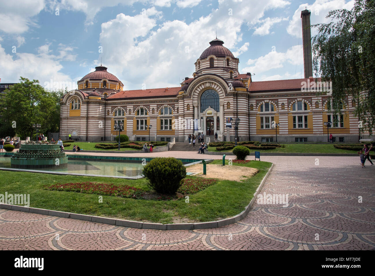Central Mineral Baths building in Sofia, Bulgaria - Stock Image