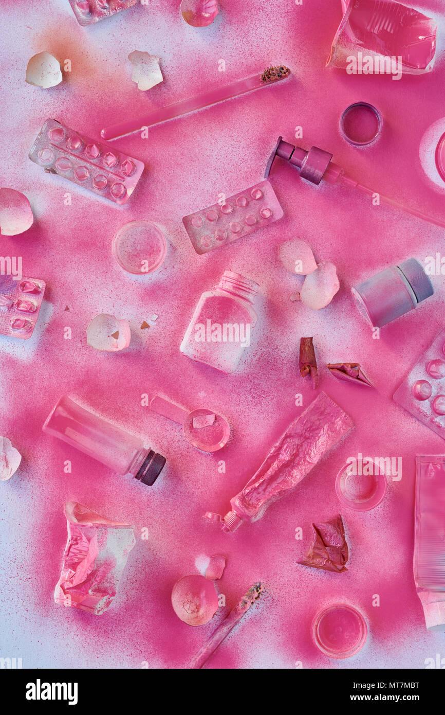 Plastic Waste Background - Stock Image