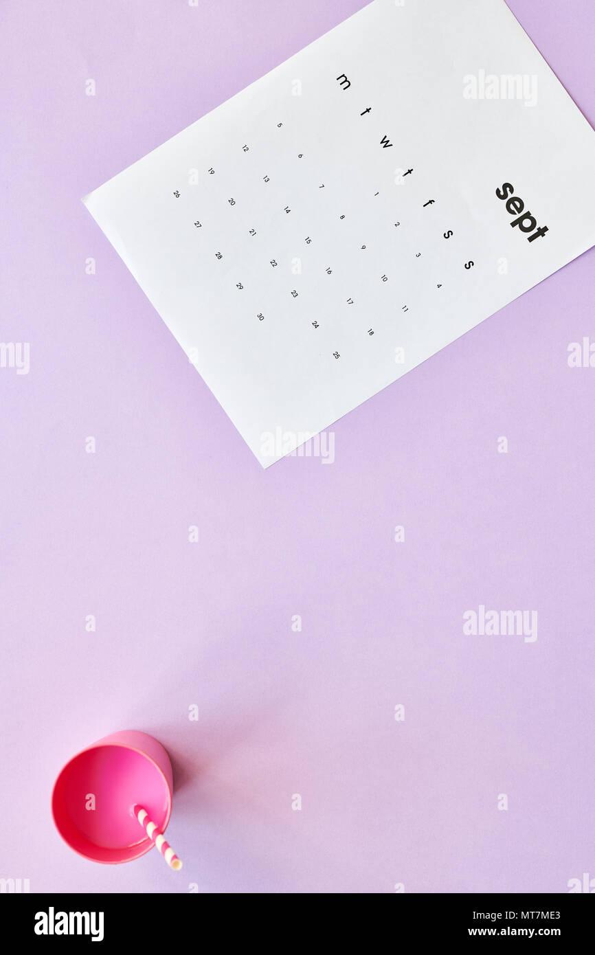 September Flatlay - Stock Image