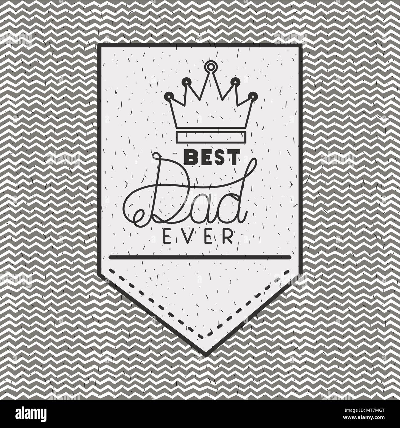 happy fathers day card with king crown - Stock Vector