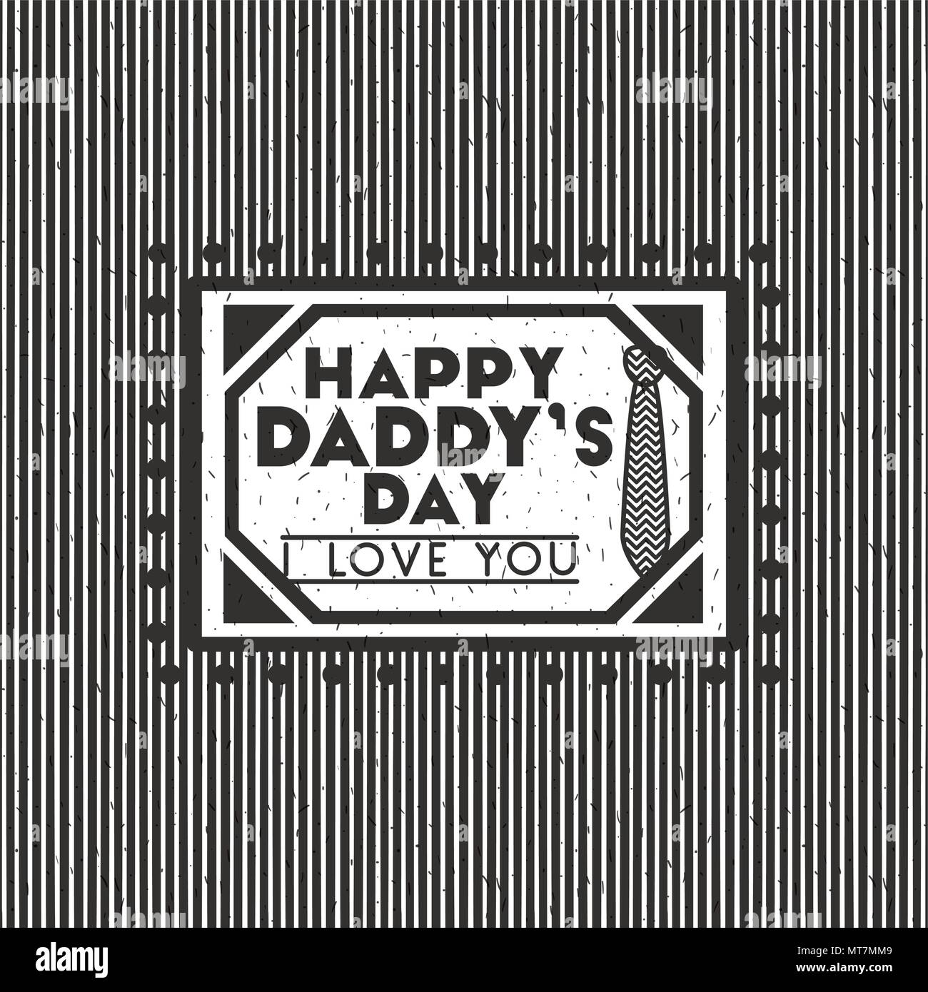happy fathers day card stamp - Stock Vector