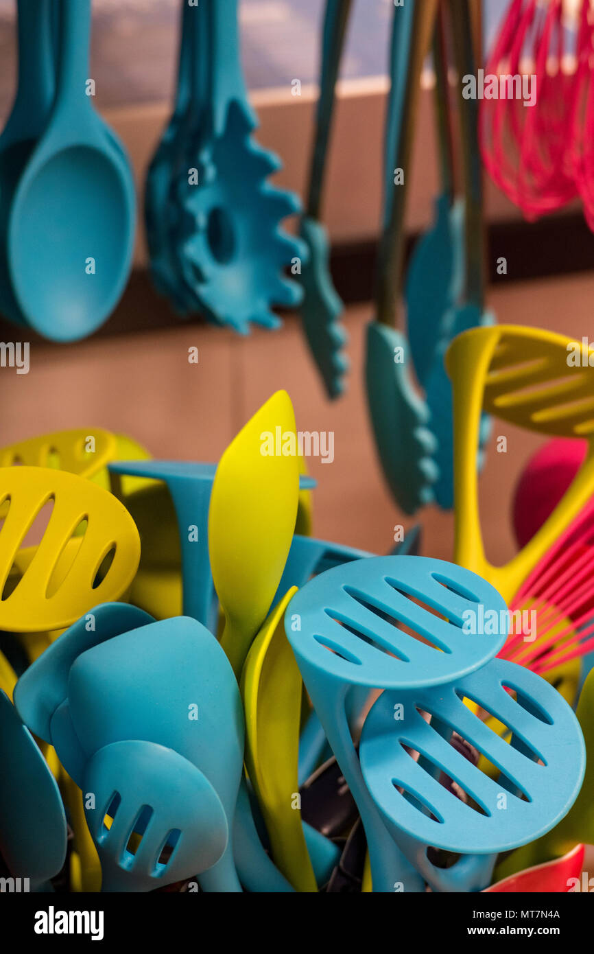 Kitchen Utensils Colourful Stock Photos & Kitchen Utensils Colourful ...