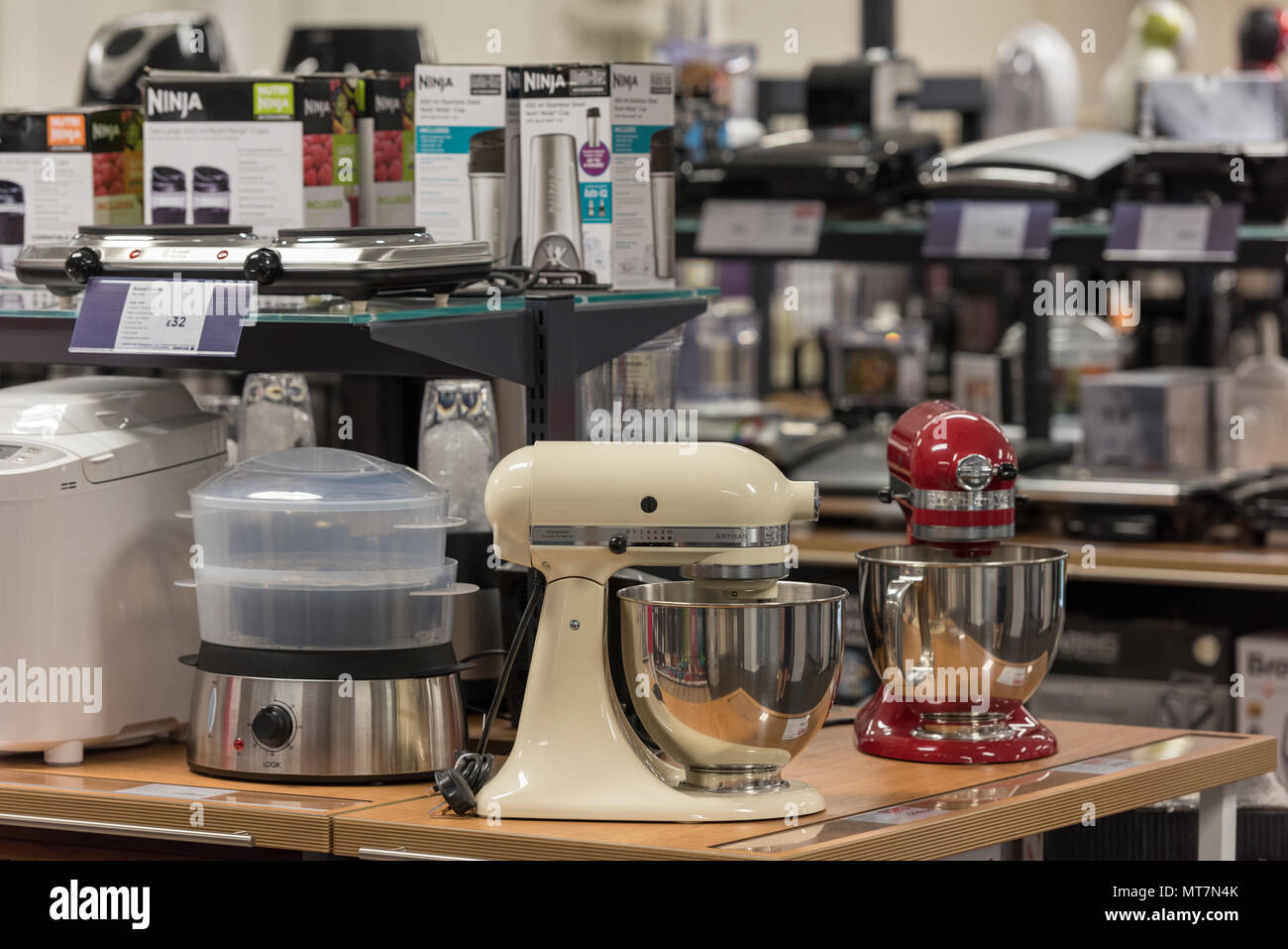 variety of electrical domestic appliances and kitchen equipment on ...