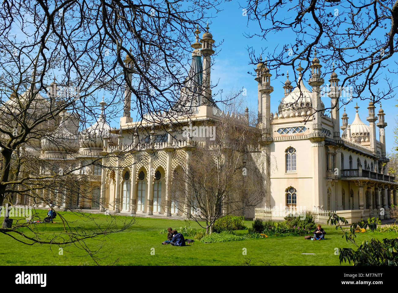 Brighton Pavilion, Brighton, East Sussex, England, UK - Stock Image