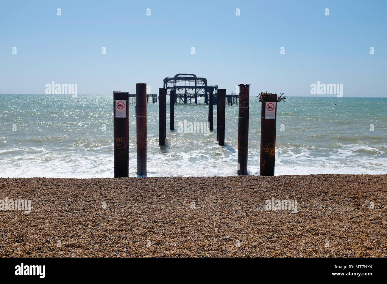 Brighton West Pier, East Sussex, England, UK - Stock Image