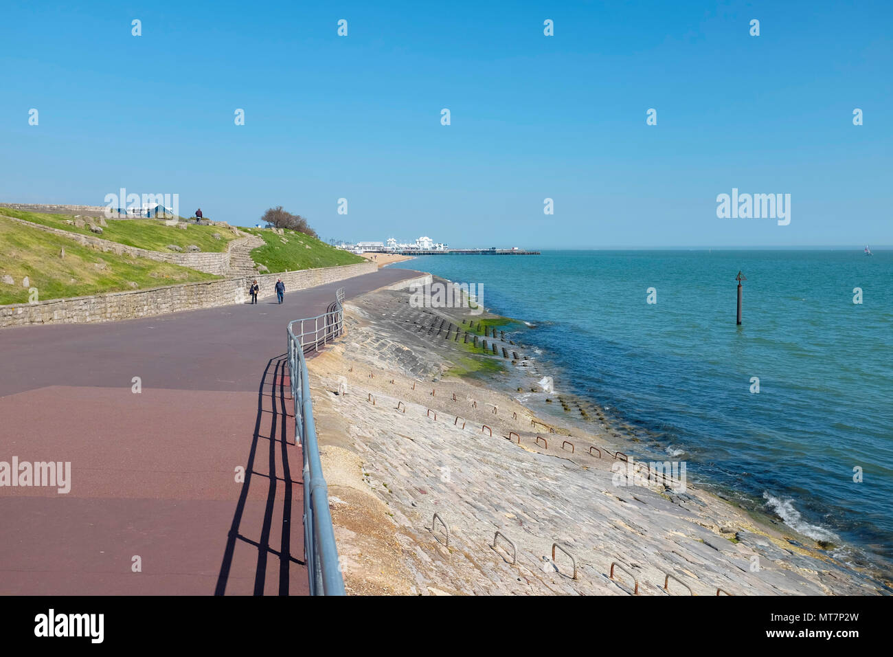 Clarence Esplanade at Southsea Seafront, Portsmouth, Hampshire, UK Stock Photo