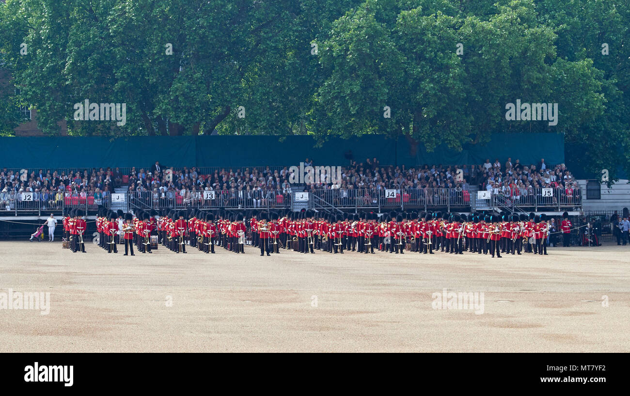 London the Major Generals Review in Horse Guards Parade a practice for Trooping the Colour the Queens Birthday Parade 2018 Stock Photo