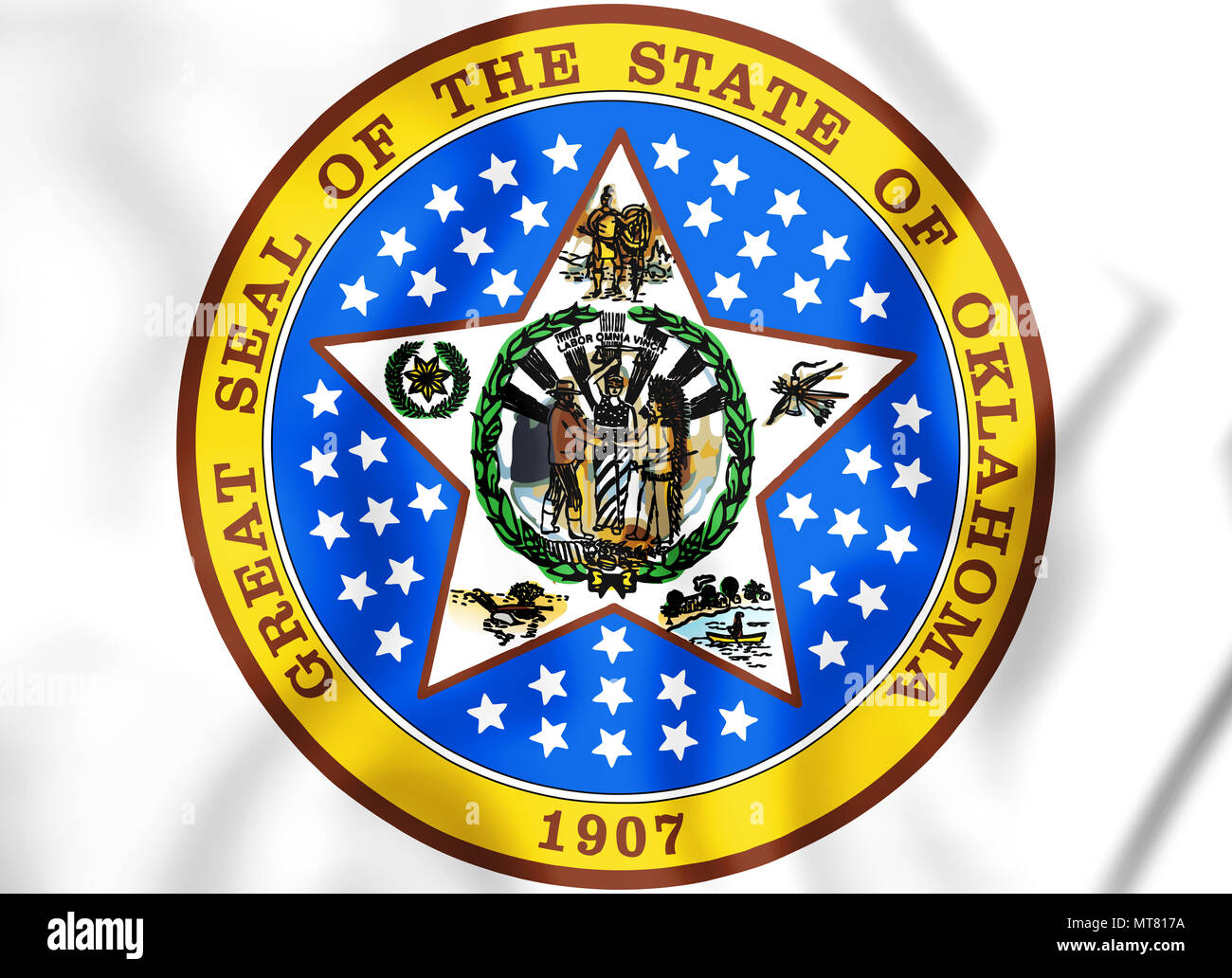 Oklahoma State Seal High Resolution Stock Photography And Images Alamy