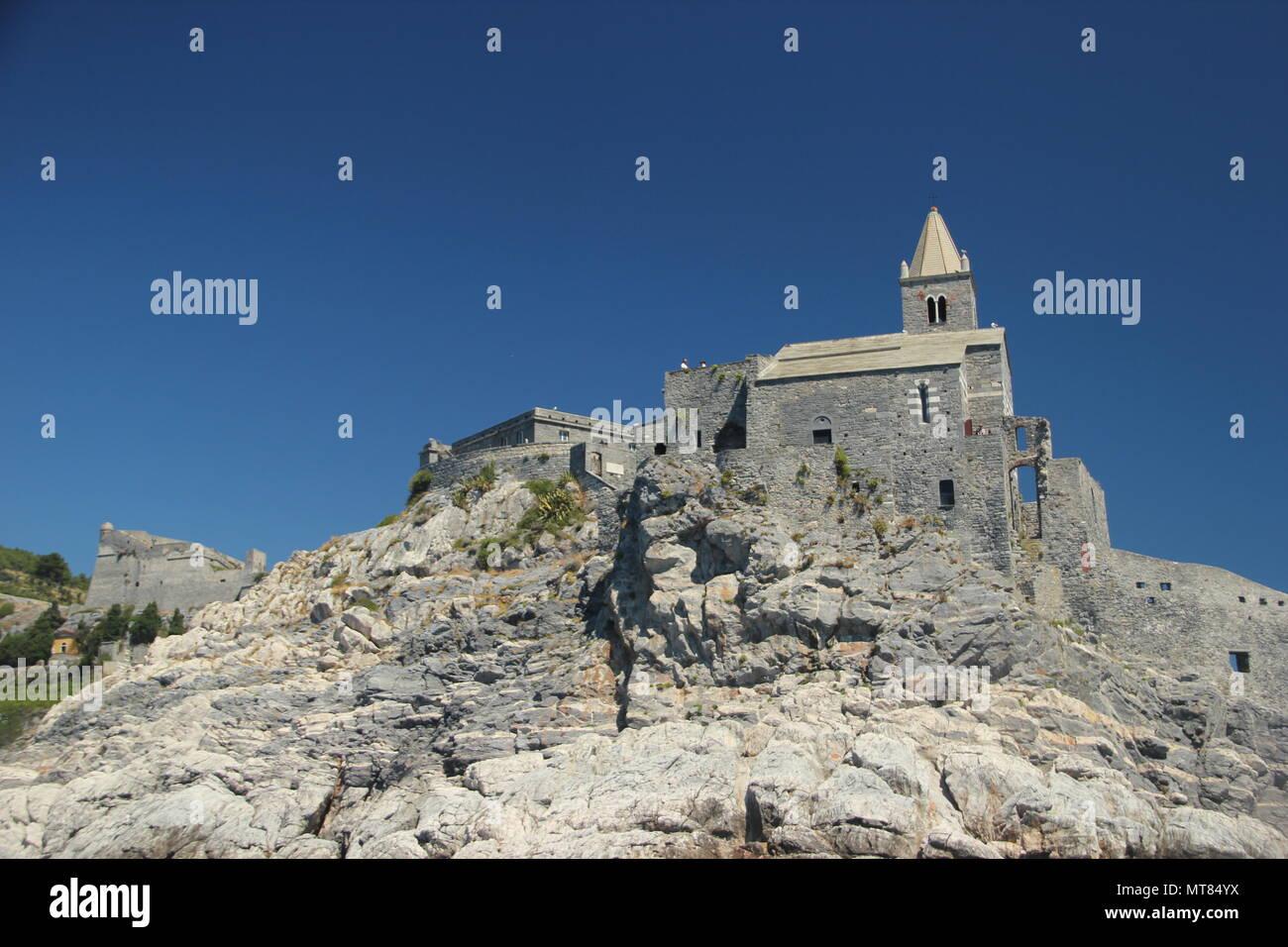 Church of St Peter in Lazzaro Spallanzani, Portovenere, Italy Stock Photo