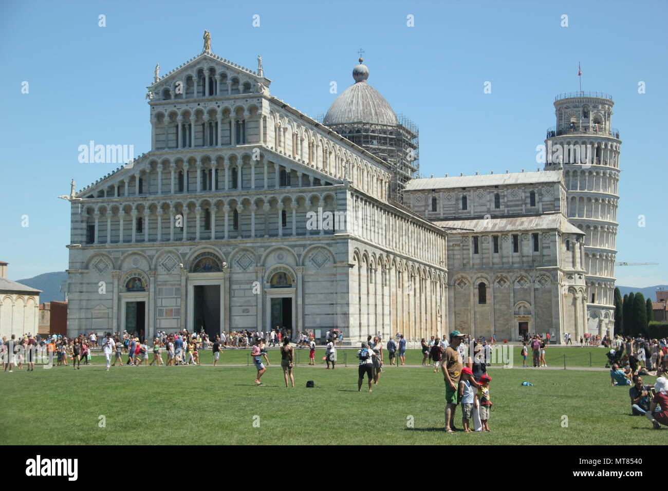 The Cathedral of Pisa in The Square of Miracles, Pisa, Italy - Stock Image