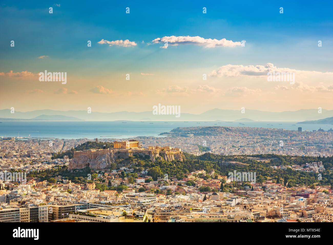 Aerial view on Athens, Greece Stock Photo