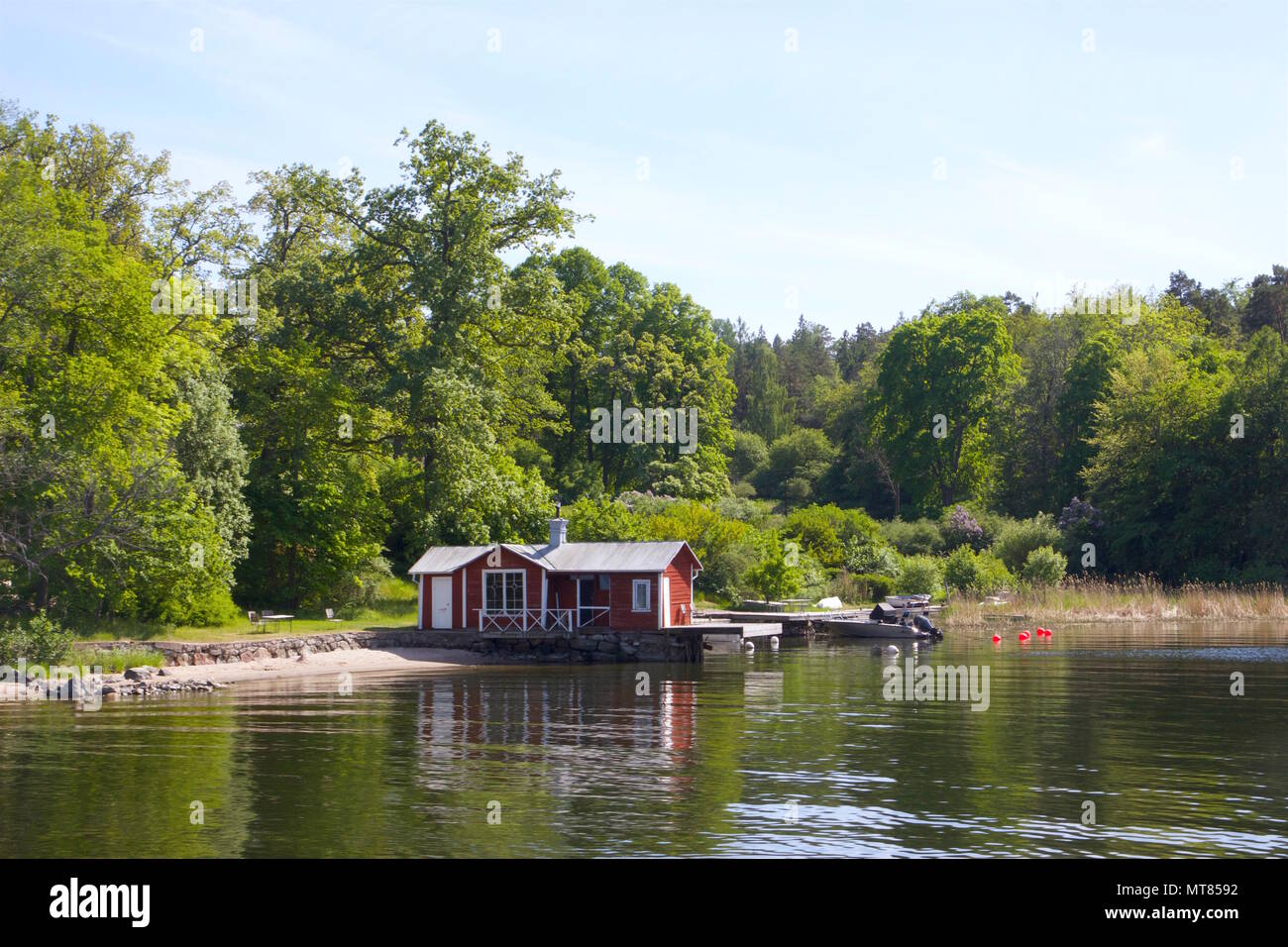 Summer house in the Stockholm Archipelago - Stock Image