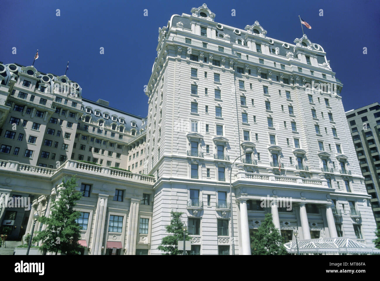 1988 HISTORICAL WILLARD HOTEL PENNSYLVANIA AVENUE WASHINGTON DC USA - Stock Image