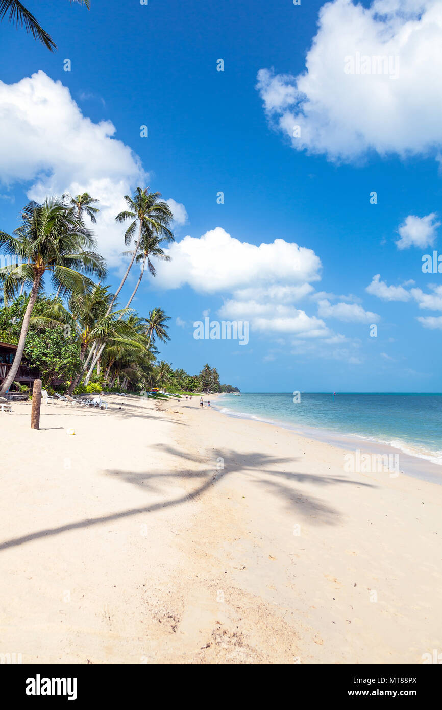 Beach of Bang Por on Koh Samui in Thailand - Stock Image
