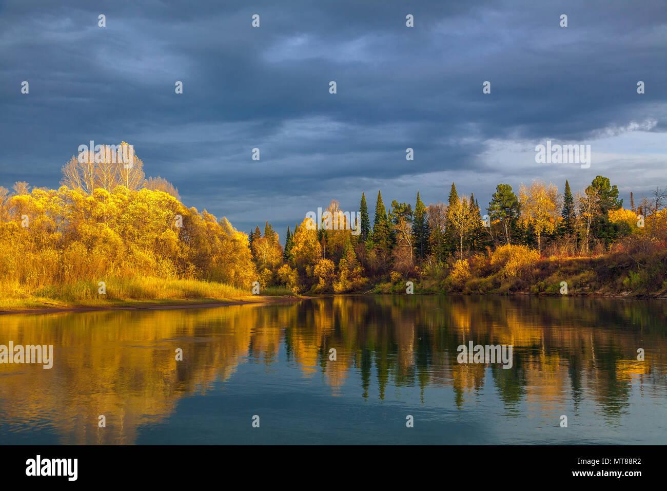 Autumn in Siberia - Stock Image