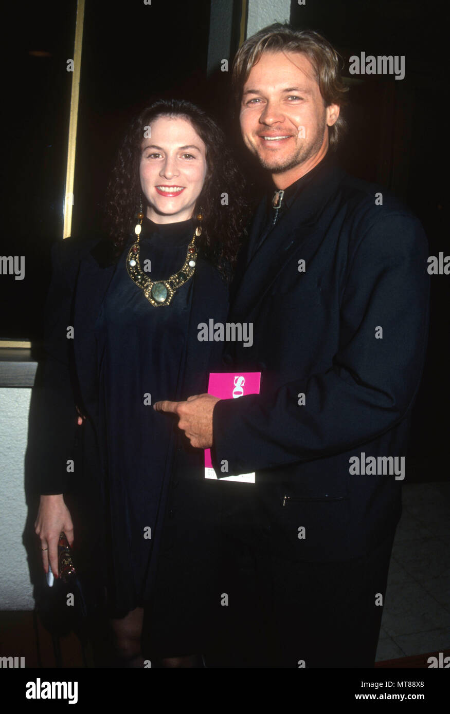 Los Angeles Ca May 23 L R Lisa Nicholas And Husband Actor Stephen Nichols Attend The Soapdish Westwood Premiere On May 23 1991 At Mann National Theatre In Los Angeles California Photo