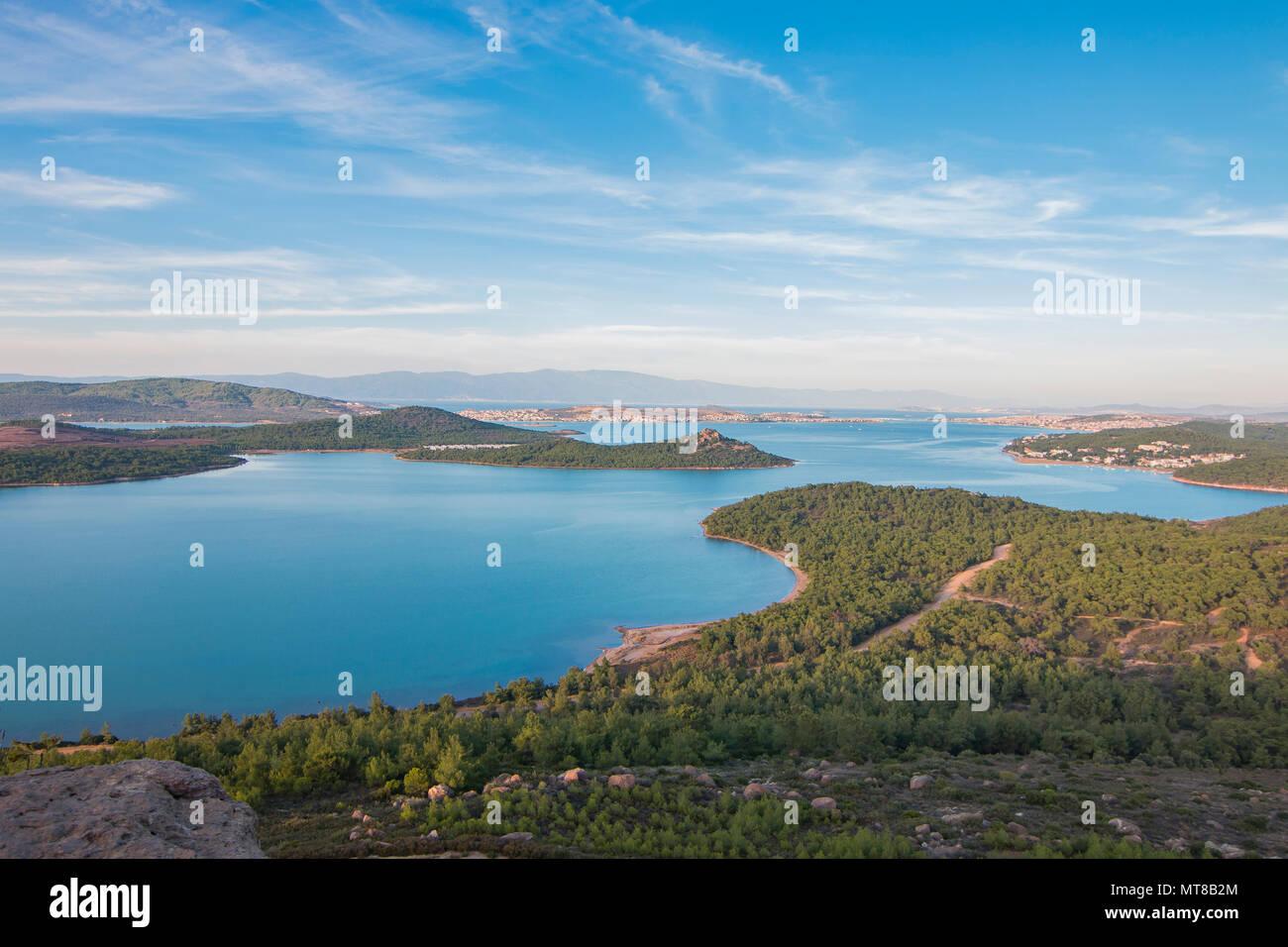 Seytan Sofrasi view in Ayvalik, Balikesir, Turkey - Stock Image