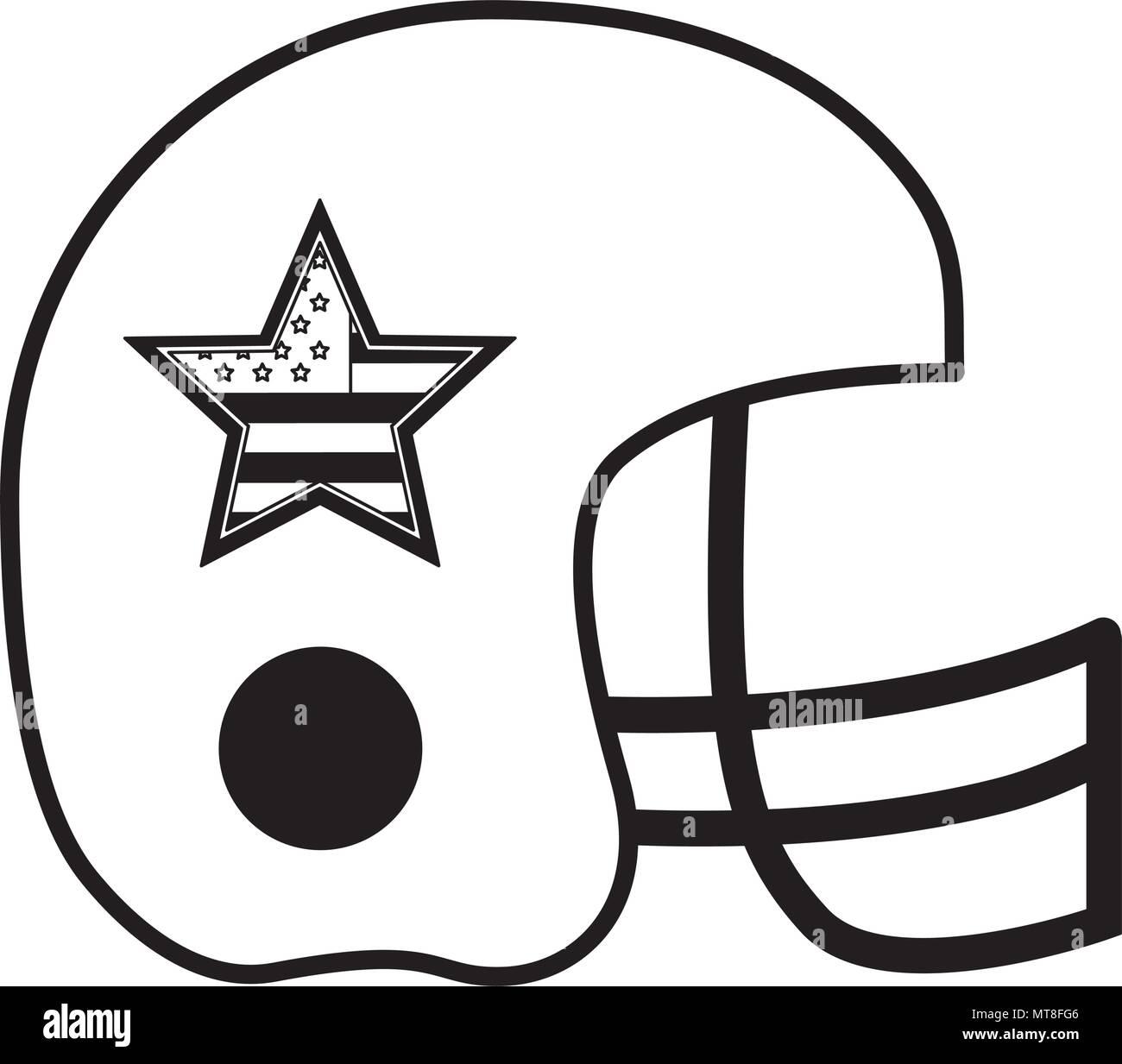 american football helmet with usa flag