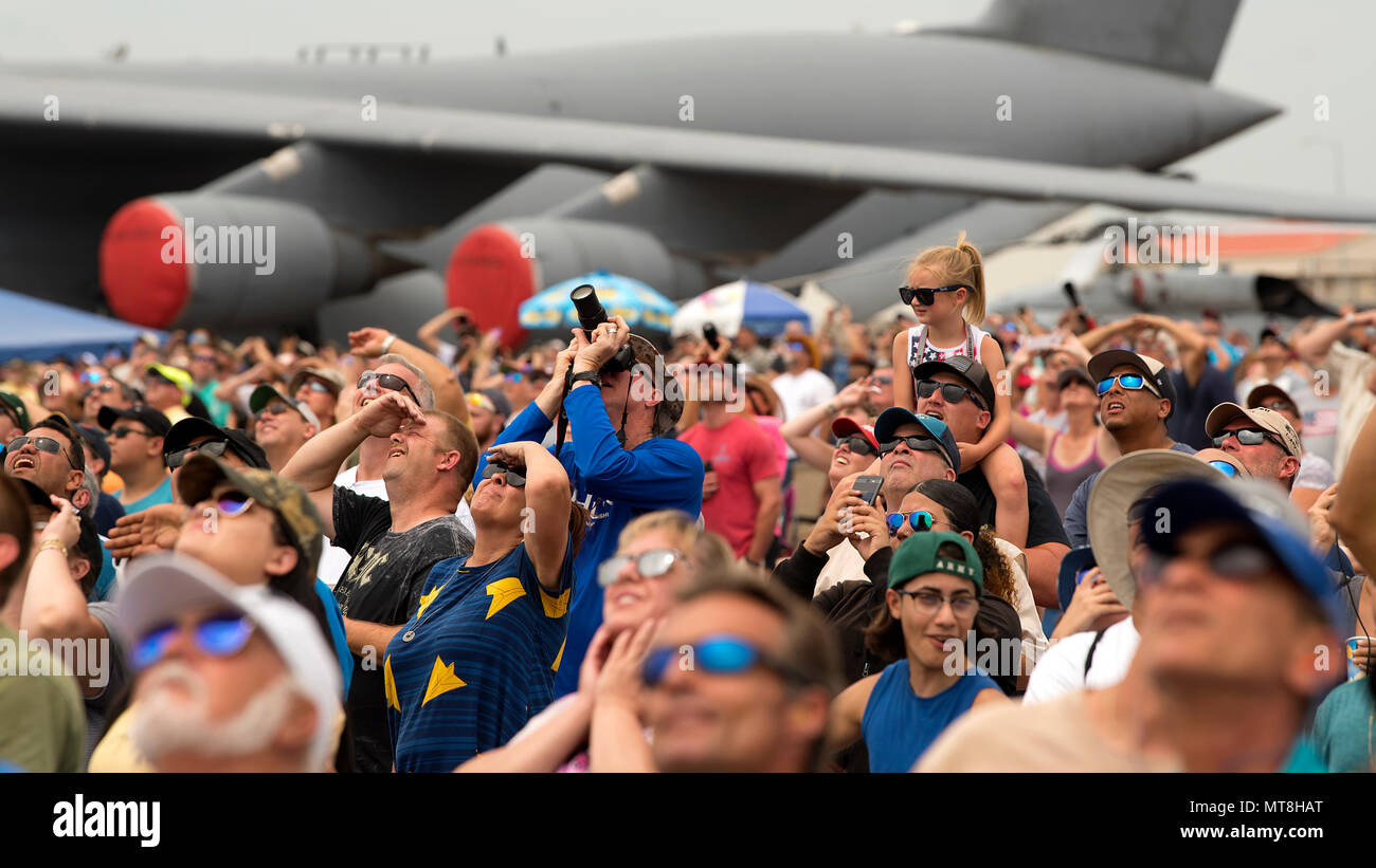 2ac47629d53 Spectators watch an aerial demonstration during Tampa Bay AirFest 2018  hosted at MacDill Air Force Base
