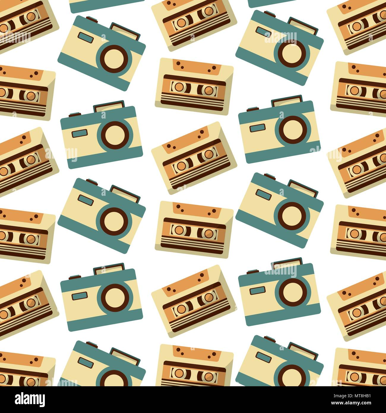 70s Wallpaper Stock Vector Images Alamy Electric Guitar Plan Diagram Drawing Wallpapers Music Cassette And Camera Photographic Retro Pattern