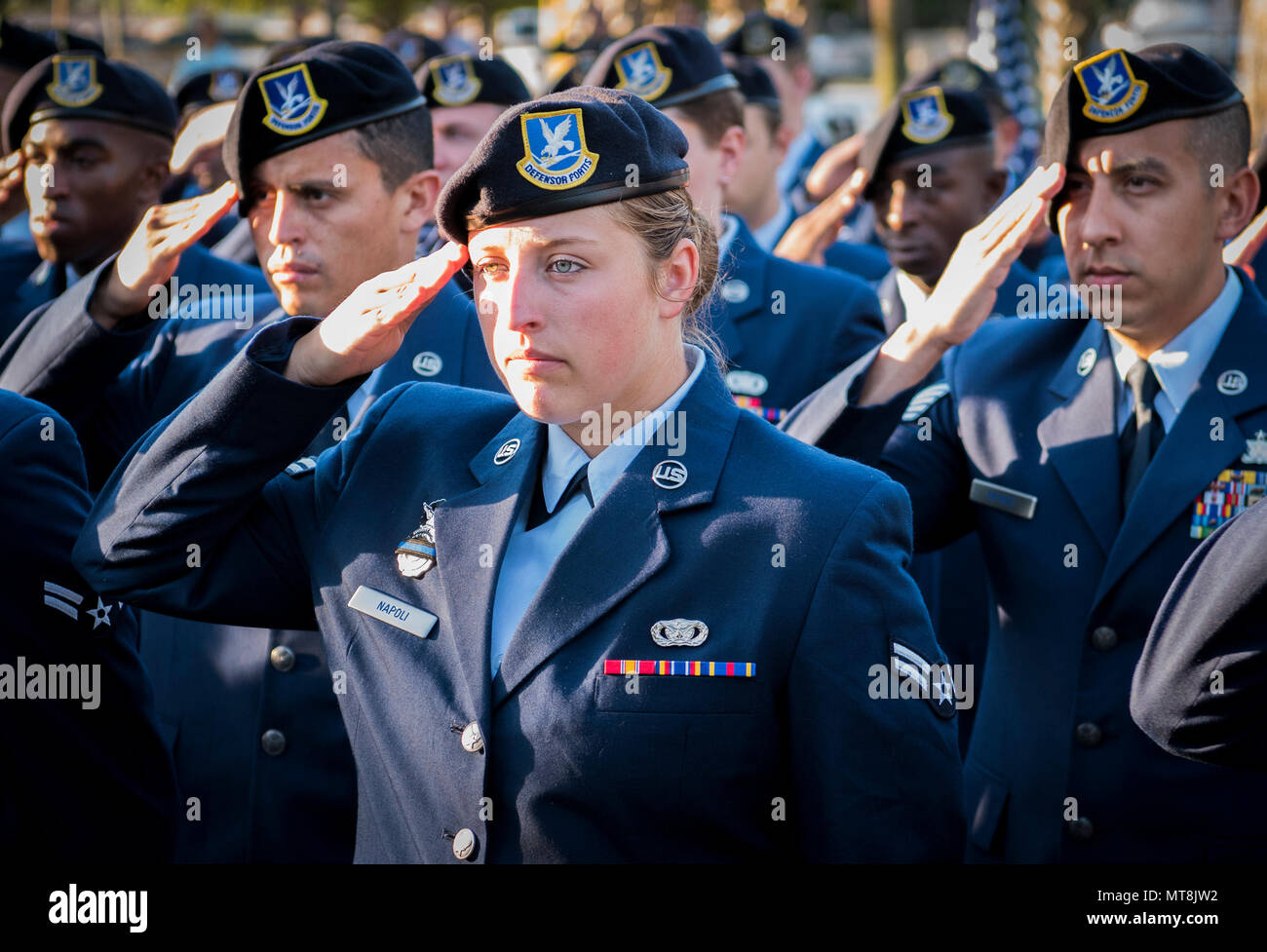Airman 1st Class Danielle Napoli, 96th Security Forces Squadron, and