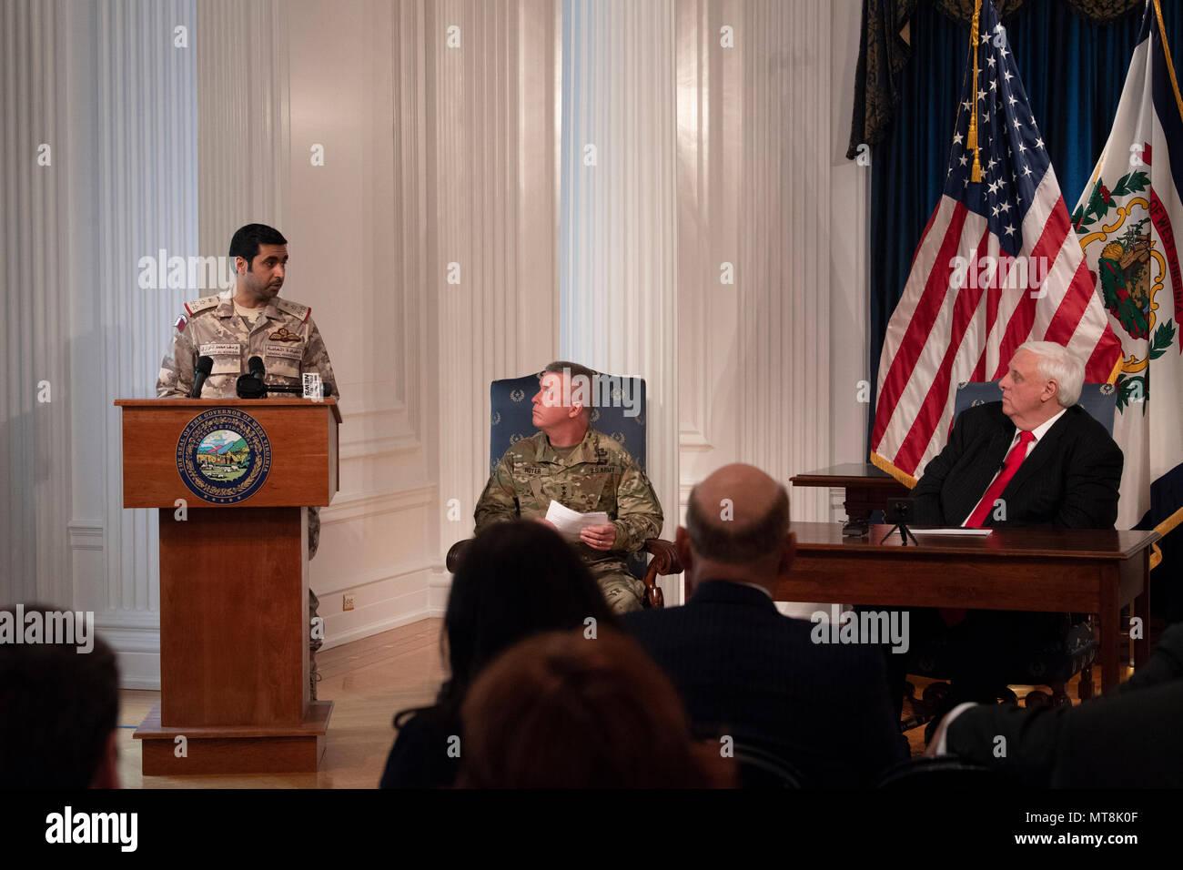 Brig  Gen  Yousef Al Kuwari, the Qatar Defense Attaché speaks to