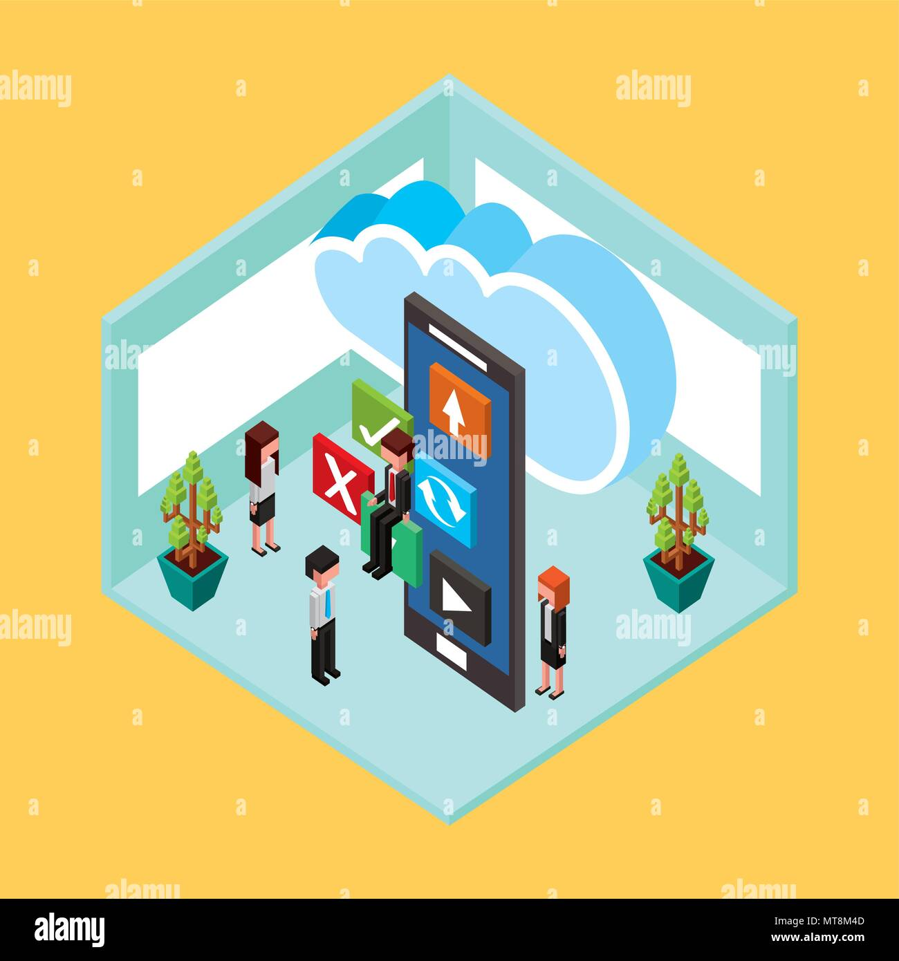 people cloud computing storage - Stock Image