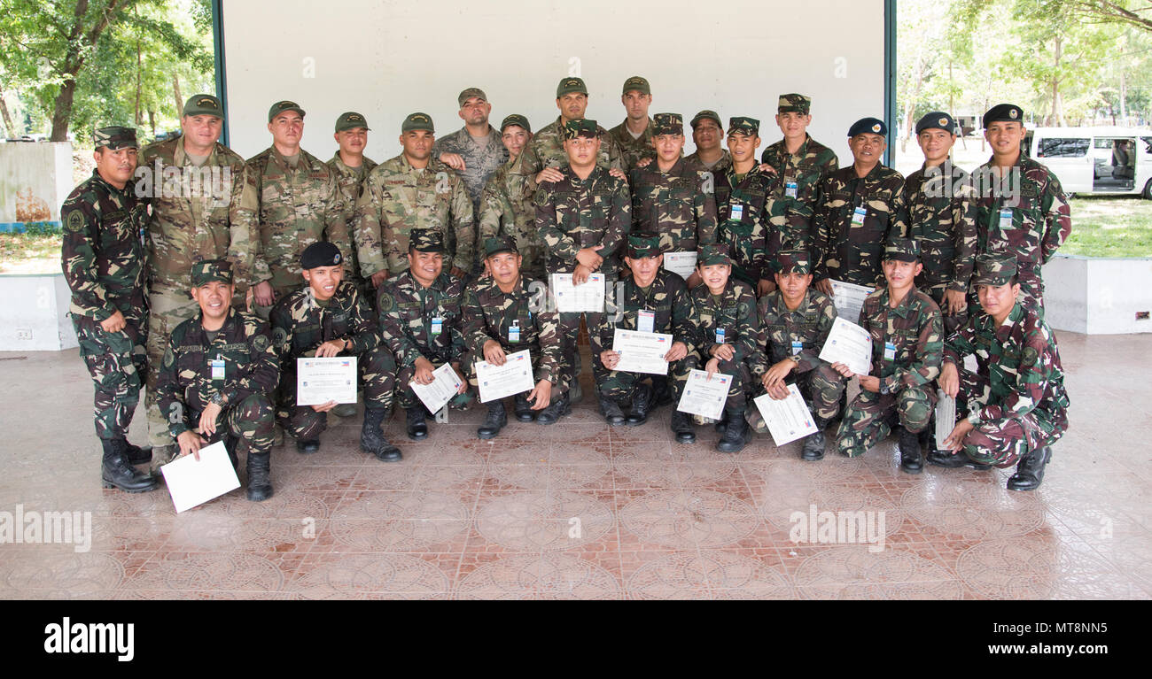U S  Air Force Security Forces Airmen and Philippines Air