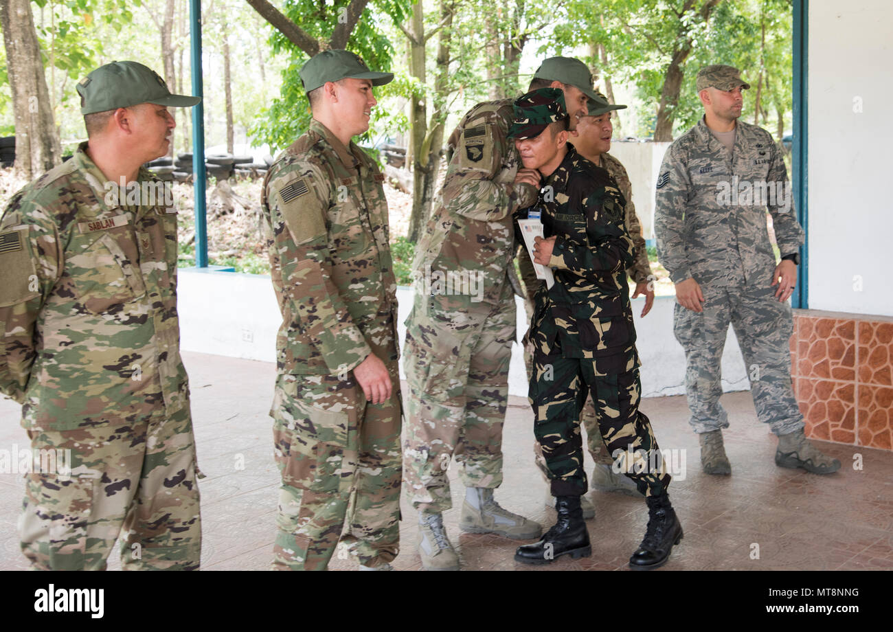 U S  Air Force Security Forces Airmen say goodbye to a