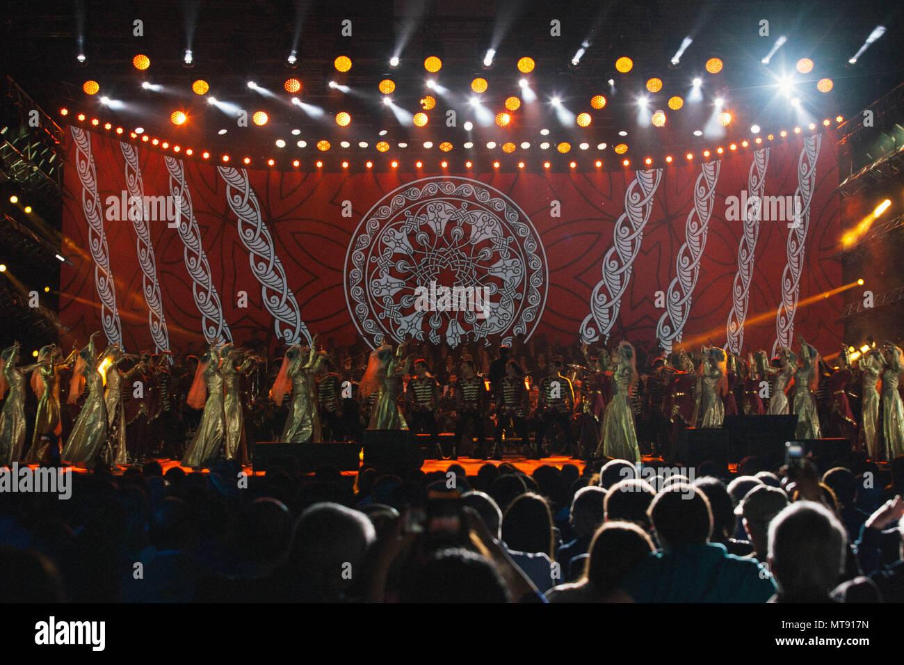 Yerevan, Armenia  28th May, 2018  Armenian music and dance