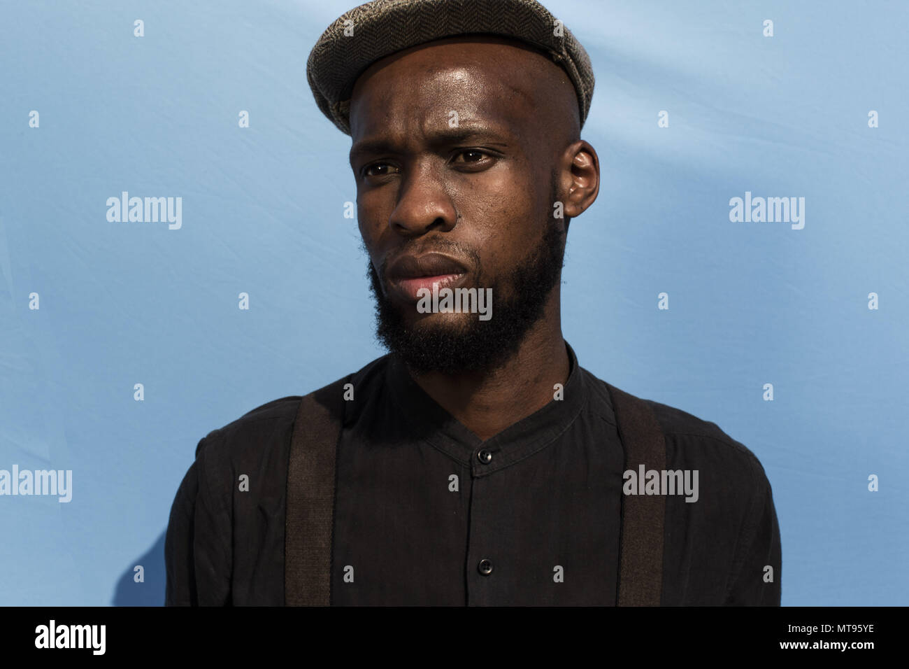 Johannesburg, Soweto, South Africa. 26th May, 2018. Visitors to the Izikhothane dance event stand for a portrait, at the Thokoza Park in Soweto, Johannesburg. Credit: Stefan Kleinowitz/ZUMA Wire/Alamy Live News Stock Photo