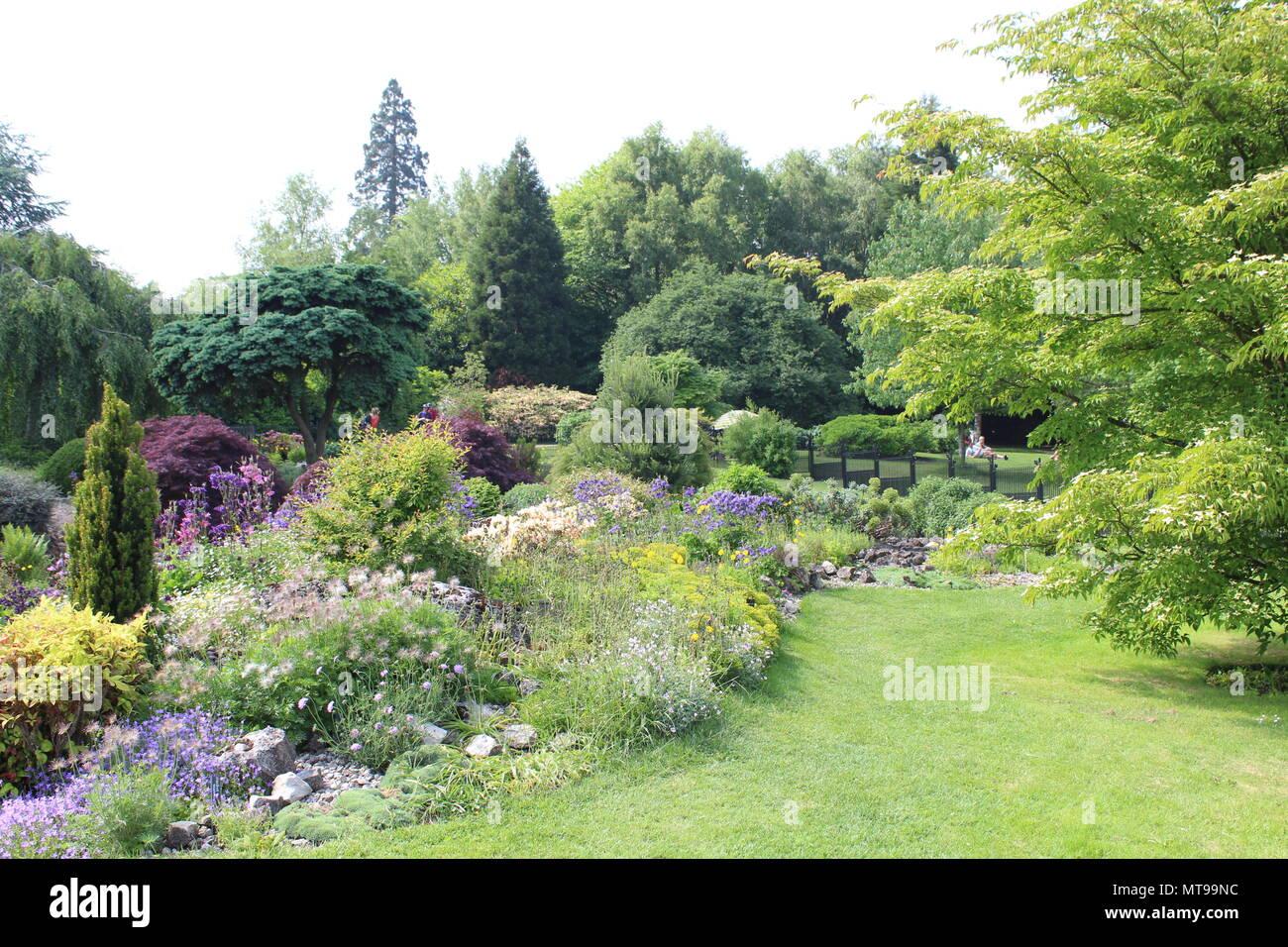 Gardens at emmetts garden National trust - Stock Image