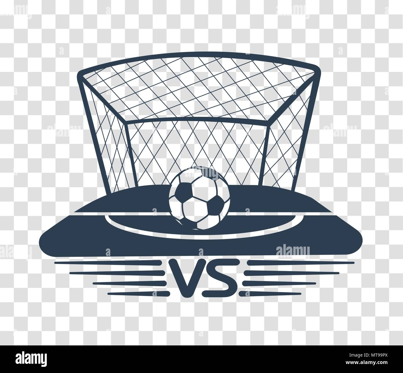 football battles icon. silhouette battle vs match, game concept competitive vs. - Stock Vector